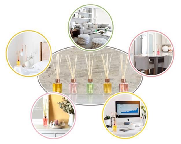difusor en varillas ambientador de hogar